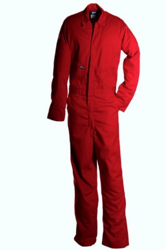 - LAPCO CVFRD7RE-6XL XT Lightweight 100-Percent Cotton Flame Resistant Deluxe Coverall, Red, 6X-Large, Extra Tall