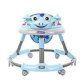 Meen Walker, Baby 6-18 Months Baby Multi-Function Anti-Rollover Folding Walker Children's Music Walker (Color : Blue)