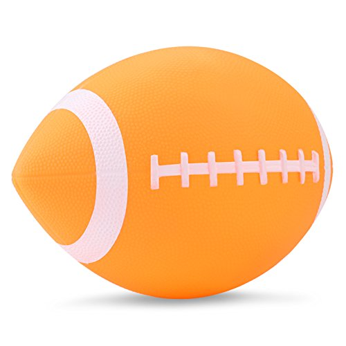 """YAPA Football for Toddlers Mini Cute American Footballs Handheld Kids Toy,Bouncy and Soft 7.5""""Inflate Beach Ball Come Deflate(Yellow)"""
