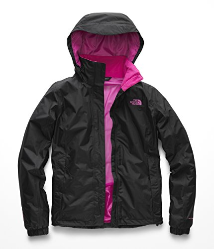 The North Face NF0A35DM Women's PR Resolve Jacket, TNF Black/Raspberry Rose - ()