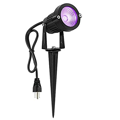 Hypergiant LED Spotlight 12W, 120V AC, 3000K Warm White, Outdoor Use, Metal Ground Stake, Garden Light, Outdoor Spotlight, 3.3 ft Cord with Plug (Pack of 2)
