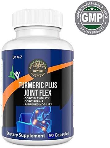 Turmeric Curcumin with Bioperine, Ginger, Joint Supplement for Men, Women, JointFlex, BioFlex, Glucosamine, Joint Support, Shield, OsteoFlex, Pain Relief, MSM, Flexit Dr A-Z