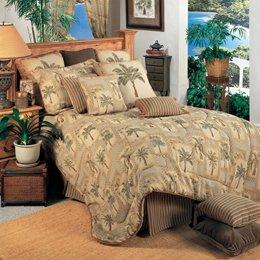 Set Grove Tree - Palm Grove 3 Piece Comforter Set Size: Queen