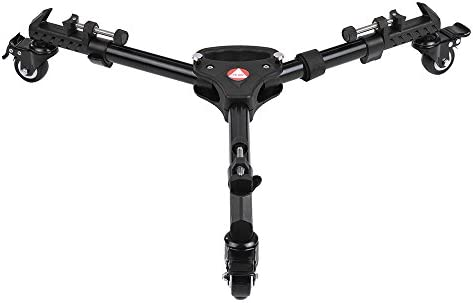 Andoer Kingjoy VX-600 Pro 3 trípode ruedas Polea Universal plegable cámara trípode Dolly Base soporte w/bolsa de transporte de nylon Max. Carga 20 kg