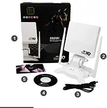tiendayphone ANTENA USB PANEL WIFI DIAMOND 58dbi 3600mw ...