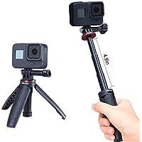 MT-09 Extendable Vlog Tripod Handle Grip Stick for GoPro Hero 8 7 6 5 4 GoPro max Sport Action Cameras Vlogging…