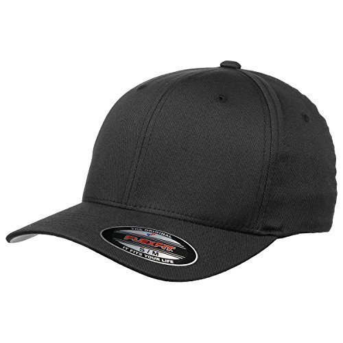 Original Flexfit Cap, black (Größe S/M), Schirmunterseite silbergrau