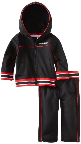 Calvin Klein Baby Boys' Hooded Jacket With Pant Set