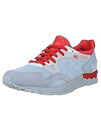 ASICS GEL LYTE V MID GREY SUEDE RED SPLATTER MENS RUNNING FASHION H7Q3N 9696