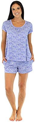 bSoft Women's Sleepwear Bamboo Jersey Short Sleeve Shorts Pajama PJ Set