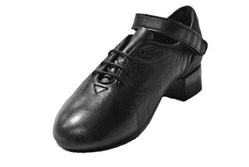 RYAN AND ODONNELL Boys Revolution Black Leather Irish Dance Reel Shoes 2.5 UK