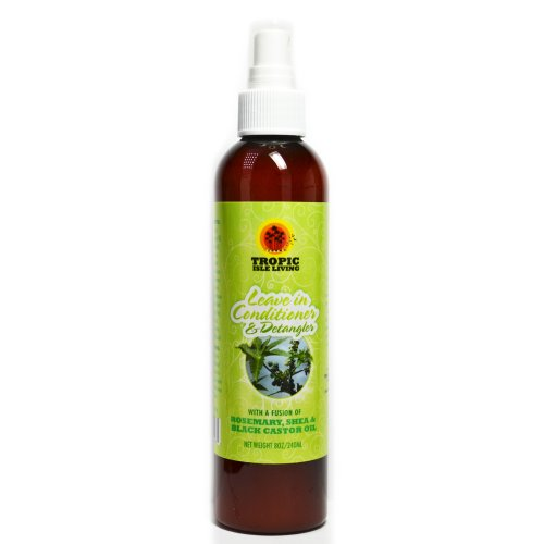 Tropic Isle Jamaican Black Castor Oil Leave-In Conditioner and Detangler, 8 Ounce