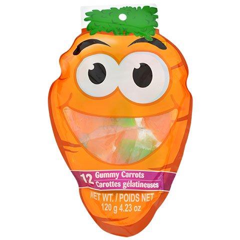 12 Gummy Carrots Net Wt./ 120 g 4.23 0z each (1 pack 12 gummy ()