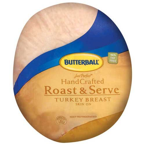 Boneless Turkey Breast (Butterball Turkey, Breast Boneless Skin On Roast and Serve - Petite, 4 Pound -- 4 per case.)