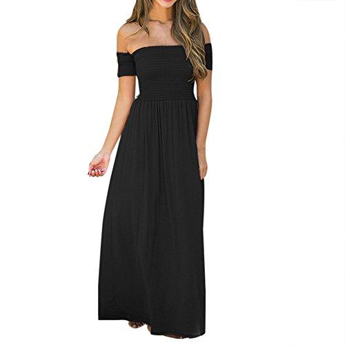 (Adeliber Summer Dresses for Women Women's Summer Sundress Spaghetti Strap Button Down Dress with Pockets Black)
