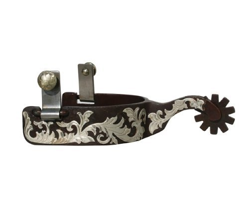 The Bob Avila Collection by Professionals Choice Equine Shank Floral Spurs-Pair (Medium) by The Bob Avila Collection by Professionals (Medium Shank Spurs)