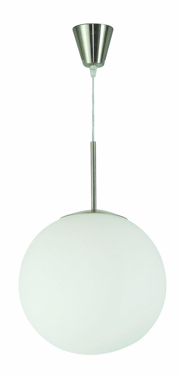 Globo Pendelleuchte Kugel nickel-matt Glas 1 x 60 W, E27 ø 35 cm H  180 cm 1584