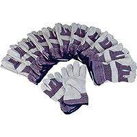 Ironton Split Cowhide Palm Work Gloves - 12 Pair