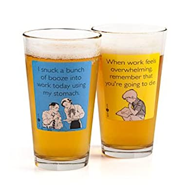 Someecards  Snuck Booze  Pint - Blue