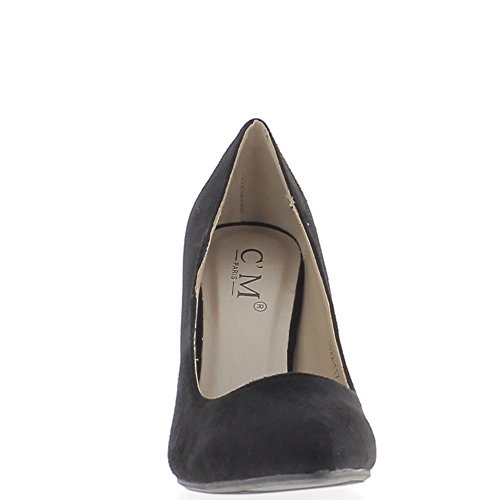 Black Shoes with Thin Heels 10cm Tips Sharp Aspect Suede Gz7mCD8