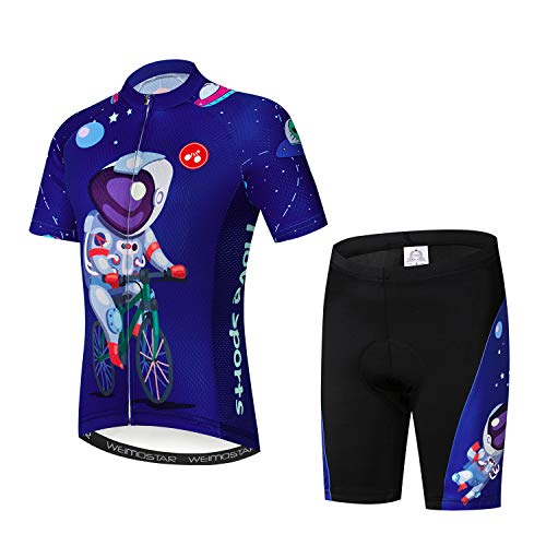 Children Cycling Jersey Set Clothing Boys Girls Shorts Pad Suits Space Pilot S ()