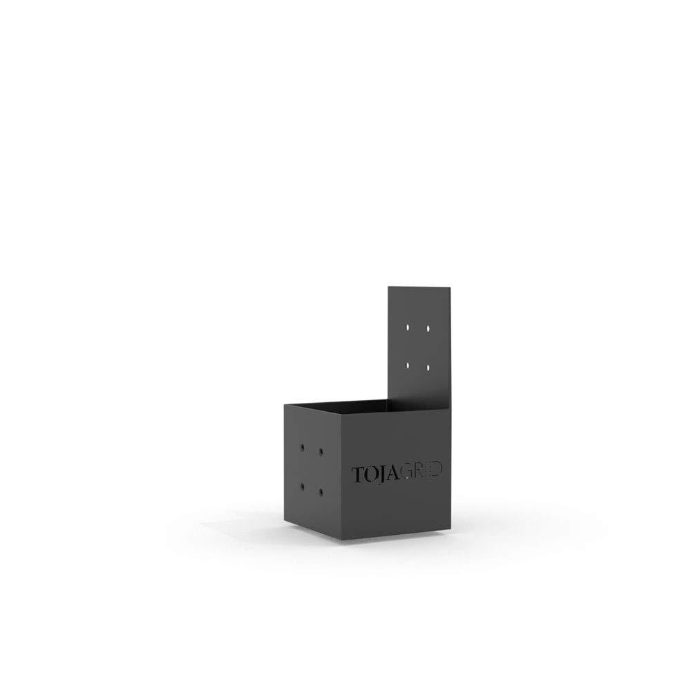 TOJA GRID G021068MB1 KNECT 8 Pack for 4X4 Wood Posts Modular Pergola Part, Black by TOJA GRID