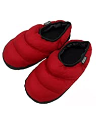 FakeFace Womens Mens Winter Super Cosy Quilted Down Warm Mules Slipper Lightweight Waterproof Non-slip Fleece Lining Home House Indoor Slip-on Slippers Ankle Boots Shoes