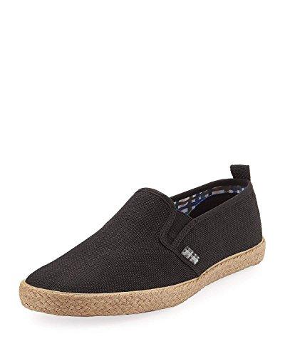 Ben Sherman Men's New Jenson Linen Slip-On Shoe, Black, Sz- - Sale Uk Ben Sherman