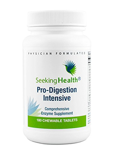 Pro-Digestion Intensive Chewable | Best Digestive Support Supplement | Helps Relieve Occasional Heartburn, Gas, Bloating and Belching | 180 Chewable Tablets | Free Of Common Allergens | Seeking Health For Sale