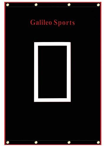 Galileo Vinyl Backstop Baseball/Softball Tarpaulin Backstop Batting cage Target with Bungees 4x6
