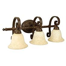 Jeremiah Lighting JER-8128AG3 Aged Bronze Riata 3-Light Vanity