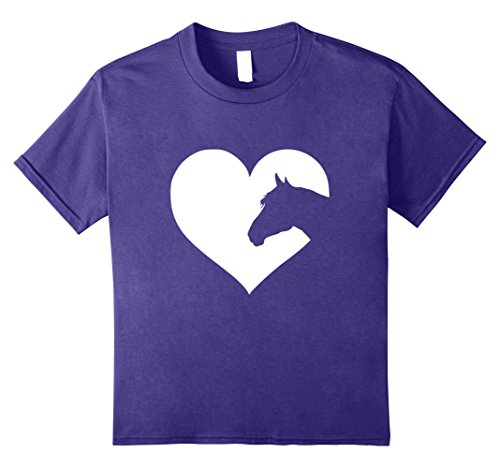 unisex-child Horse lover T-Shirt gift for girls & women who love horses 12 Purple