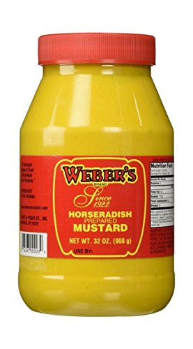 Buffalo's Own Weber's Brand Original Horseradish Mustard 32oz.