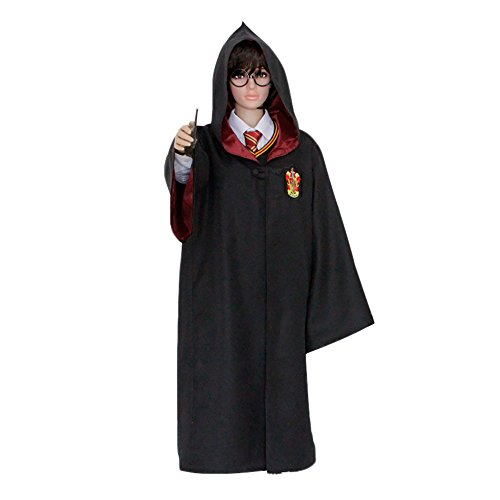 HP1 Adult Harry Potter Robe All 4 Houses XX2-XXL Halloween Costume USA (2XL, Gryffindor Red) ()