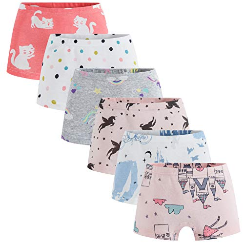 (Boboking Soft 100% Cotton Girls' Panties Boyshort Little Girls' Underwear Toddler Undies 2/3t)