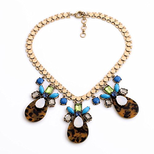 Fun Daisy Jewelry Vintage Multi-Bead Retro Fashion Necklace - xl01328