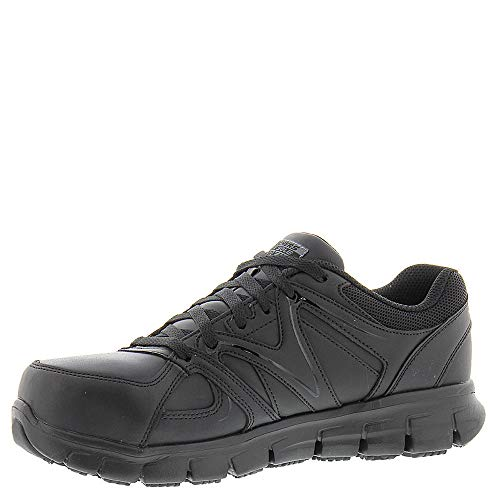 Women's Toe Shoe Black Lace Sandlot Work Alloy Work up Skechers Synergy Hz5Ac