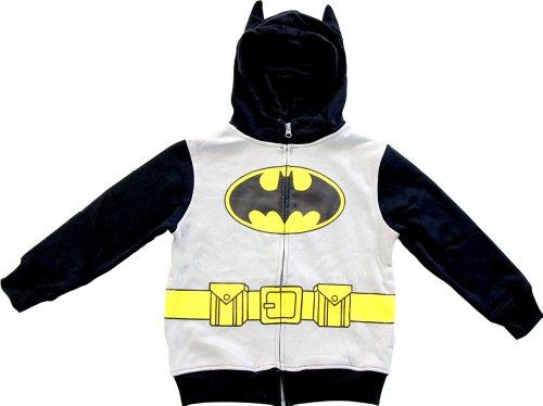 Batman Little Boys' Toddler Character Hoodie, Gray, -