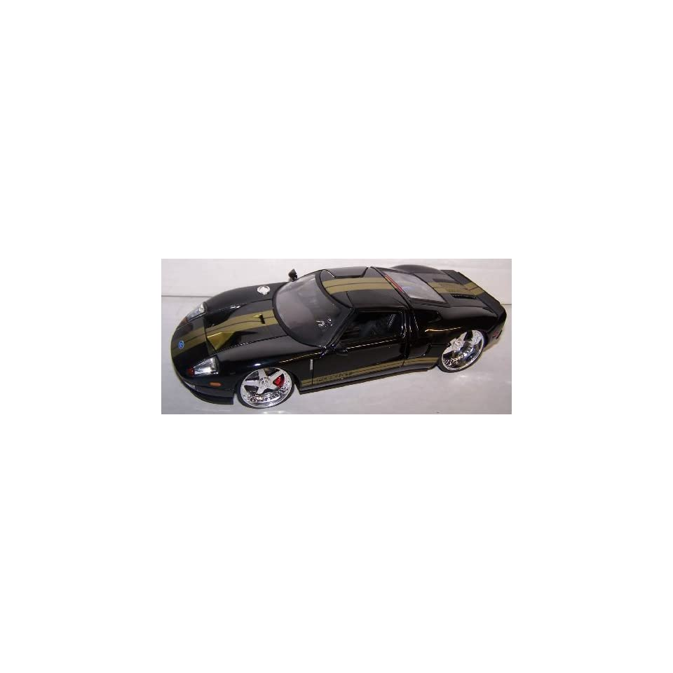 Jada Toys 1/24 Scale Dub City 2005 Ford Gt in Color Black
