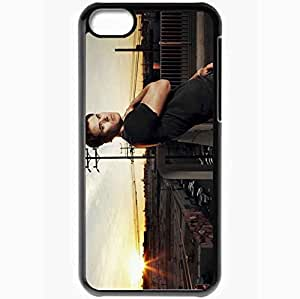 Personalized iPhone 5C Cell phone Case/Cover Skin Actor Brunet Sunset City View Black