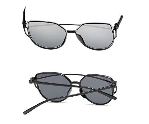 Oval Retro Set Lunettes Clout de lunettes black rondes épais Mod pour soleil femmes les soleil White FOURCHEN Lens de lunettes homme Bold zq18d48