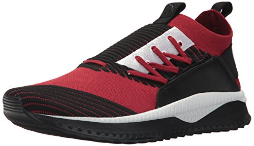 (PUMA Men's Tsugi JUN Sneaker, red Dahlia Black White, 9.5 M US)