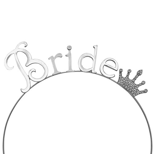 Rosemarie Collections Women's Bachelorette Party Tiara Headband Silver Tone