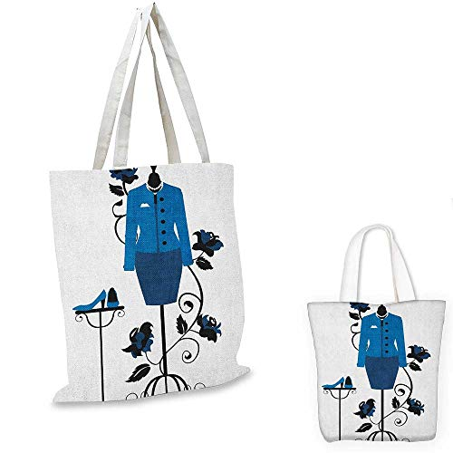 76b7c04cfe Heels and Dresses Canvas Laptop Bag Mannequin in Tailors Shop with Blooming  Flower Retro Classical Canvas