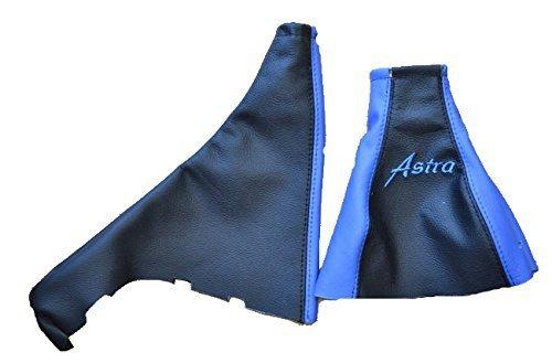 05/manuell Gear Handbremsmanschette schwarz//blau Leder Astra F/ür Opel Vauxhall Astra G Mk4/Astra Coupe 1998