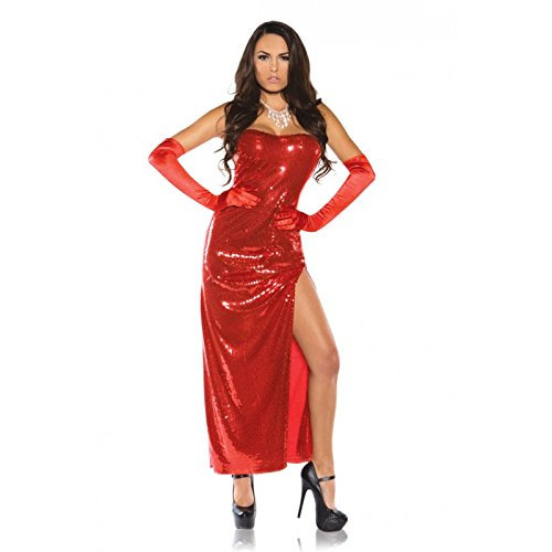 Underwraps Women's Bombshell, Red, X-Large