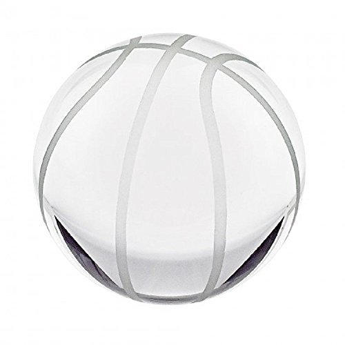 Waltz&F Clear Crystal Basketball Paperweight with Base Stand Crystal Collectible Figurines Approx 1.97