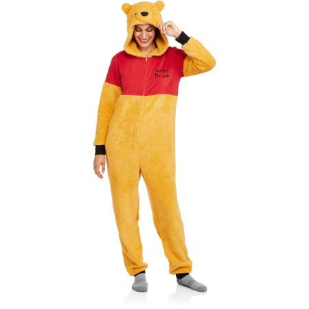 Disney Winnie the Pooh One Piece Union Suit Pajama Costume (M (Winnie The Pooh Costume For Women)