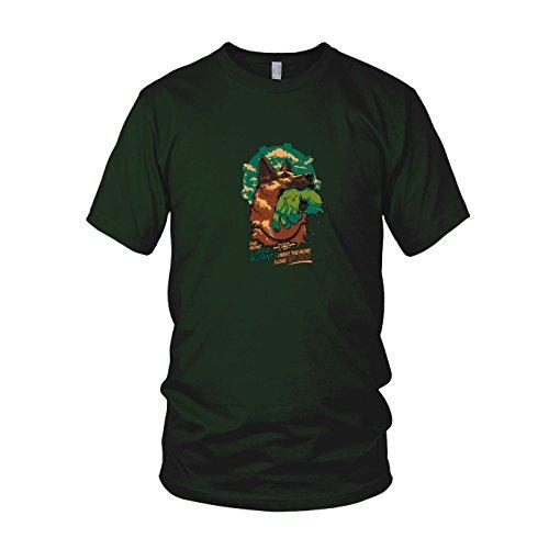 Super Mutant Dog - Herren T-Shirt, Größe: M, Farbe: dunkelgrün