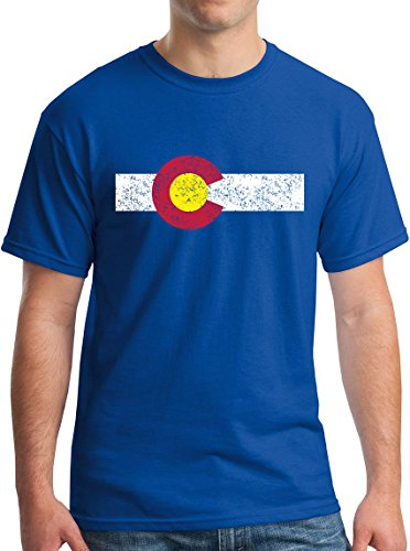 Colorado State Flag T-Shirt Fun Gifts Vintage Royal Blue XL ()